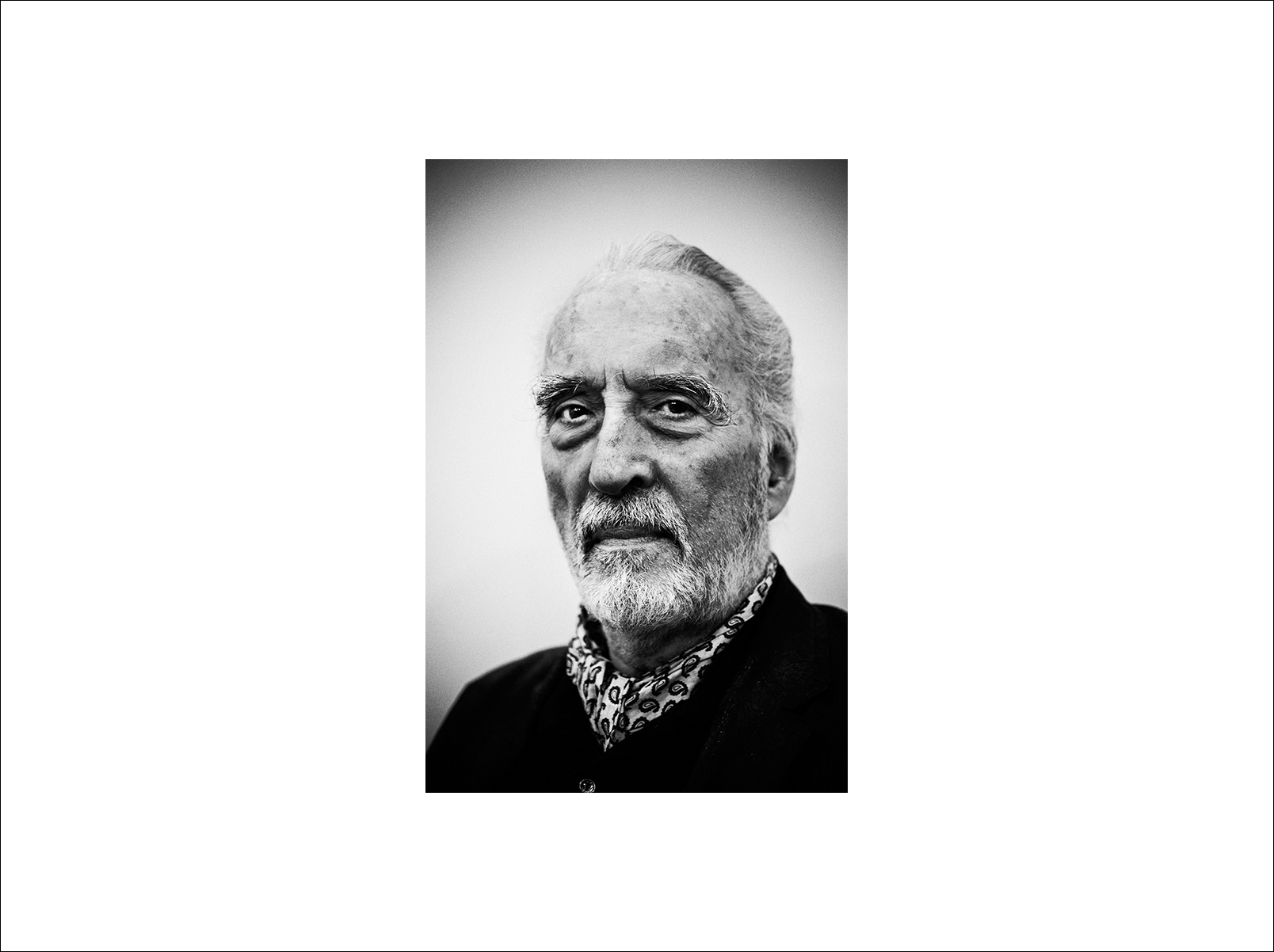 Actor Christopher Lee, photographed in Bangkok
