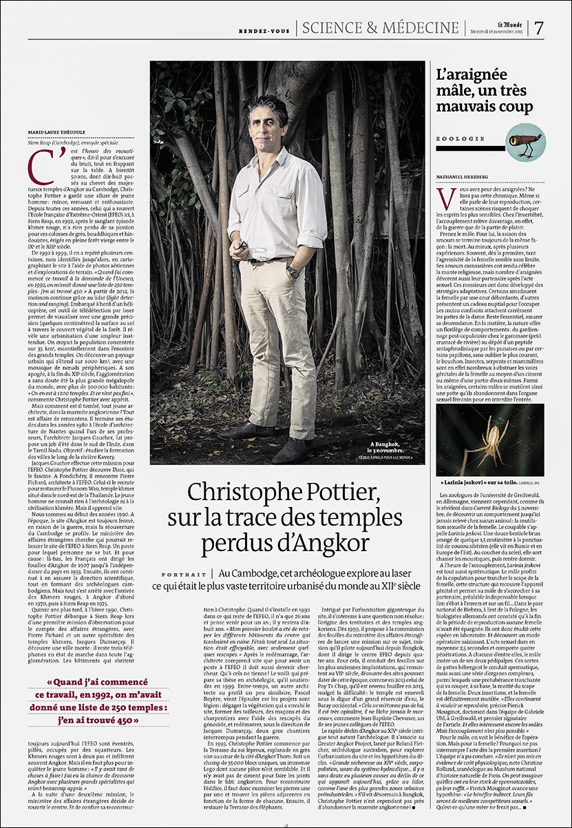 Archeologist Christophe Pottier, Le Monde