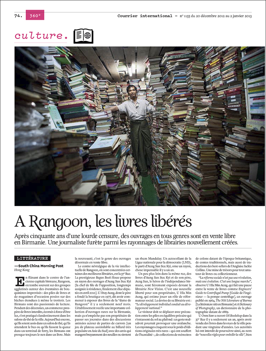 Courrier International - Yangon Bookshops