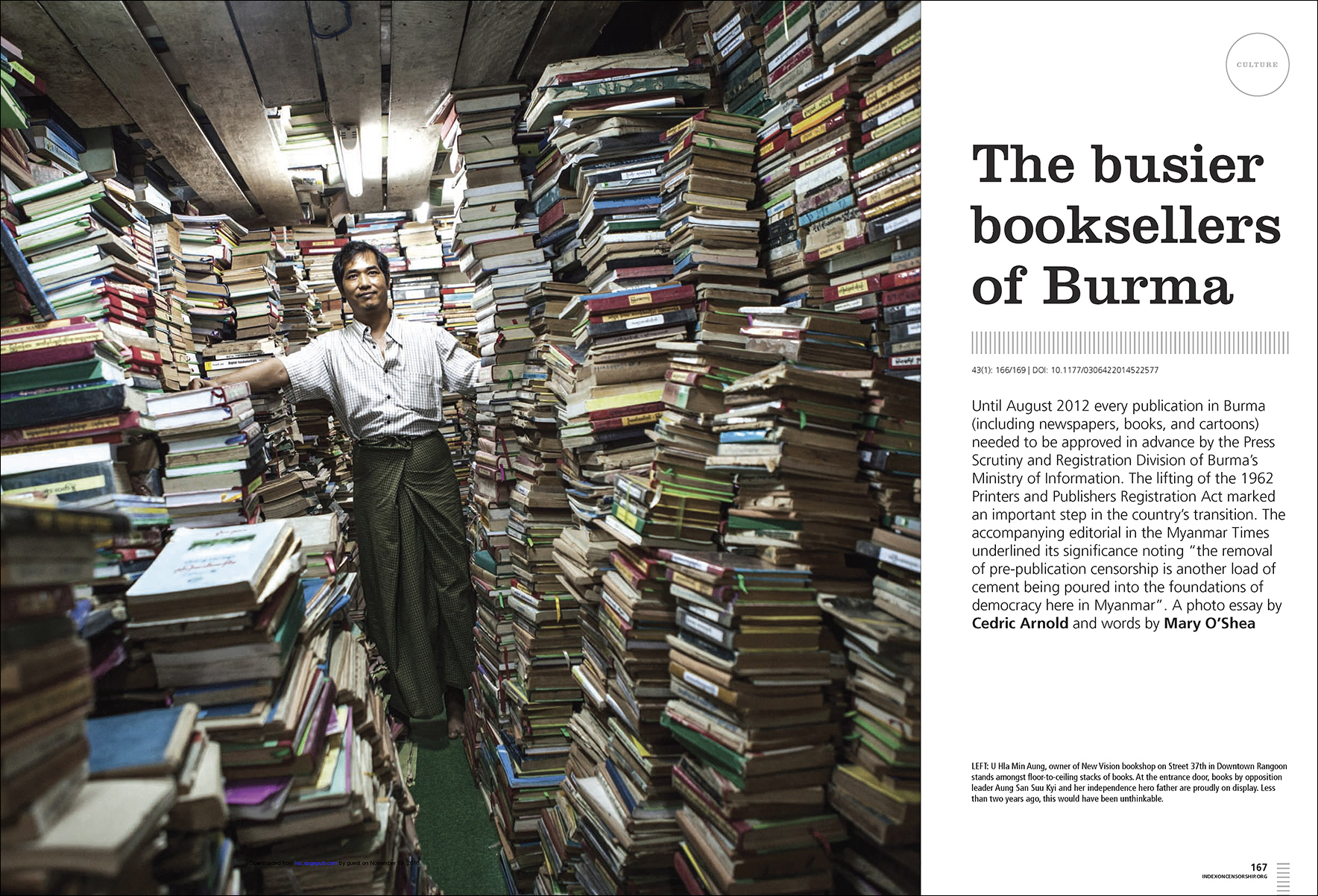 Index on censorship - Yangon Bookshops