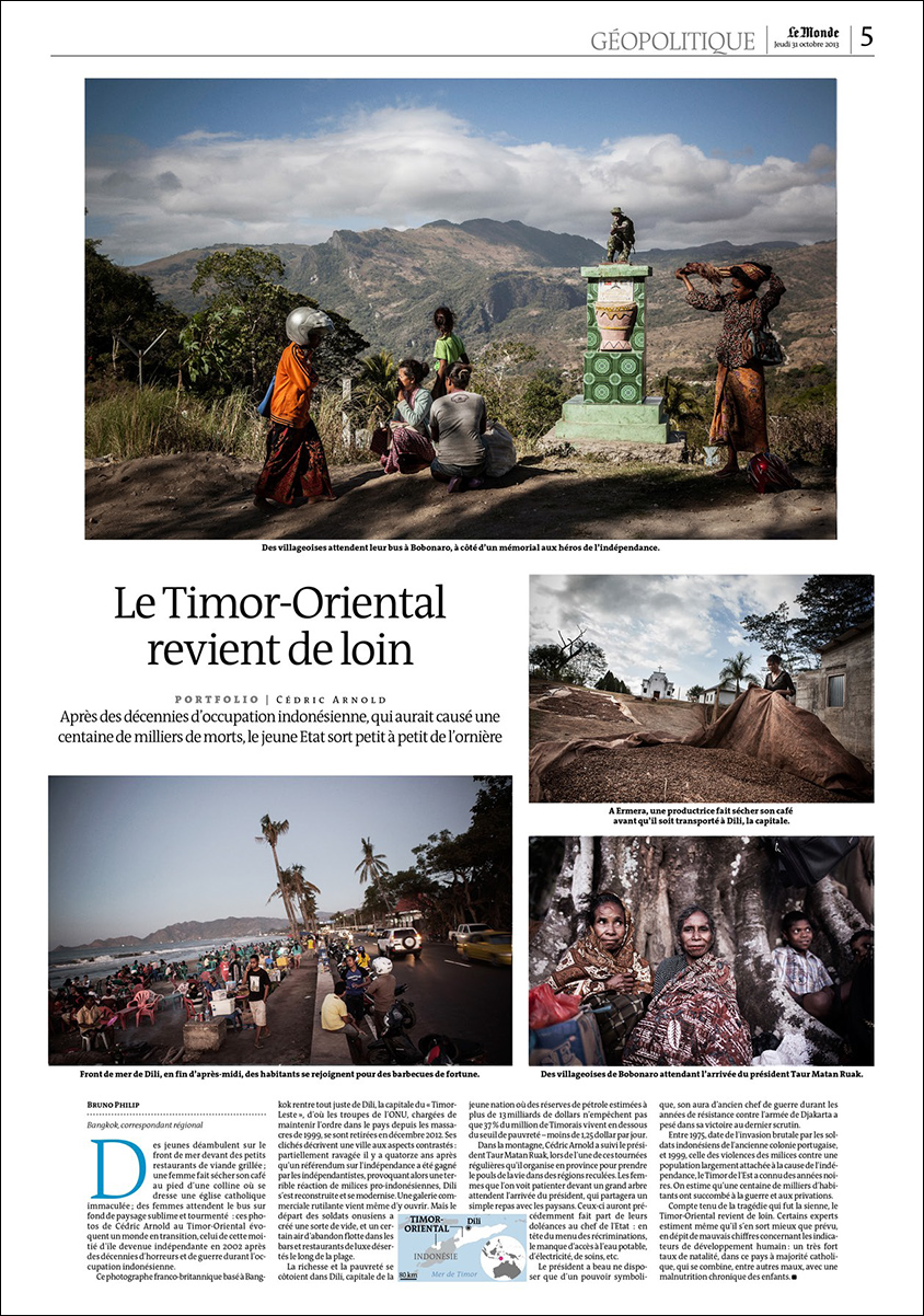 Portfolio of East Timor images in Le Monde