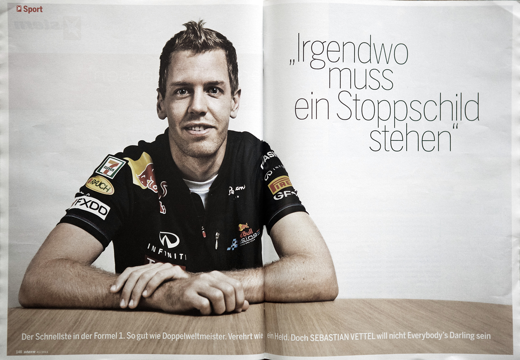Stern Magazine, Sebastian Vettel, F1 world champion
