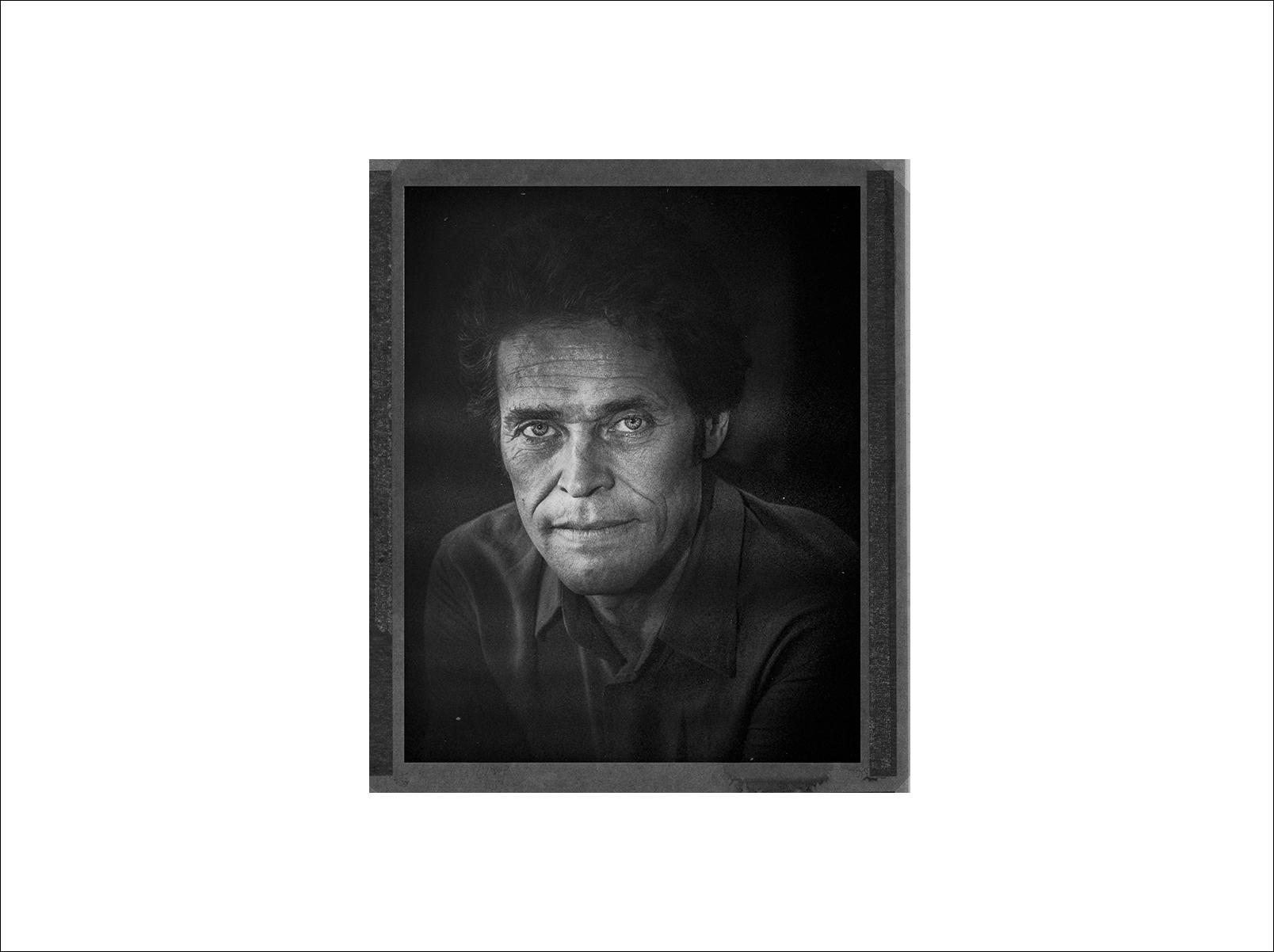 Actor Willem Dafoe, photographed in Bangkok (polaroid)
