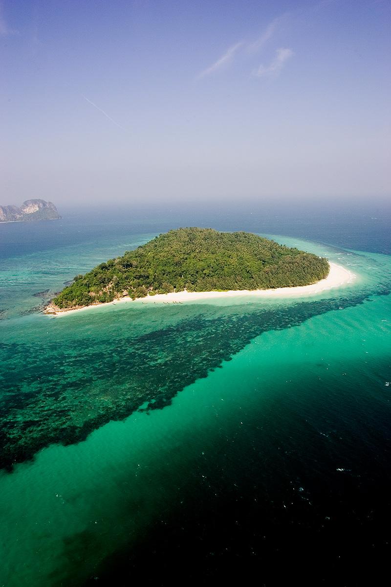 Aerial view of Mai Pai Island in Krabi Province