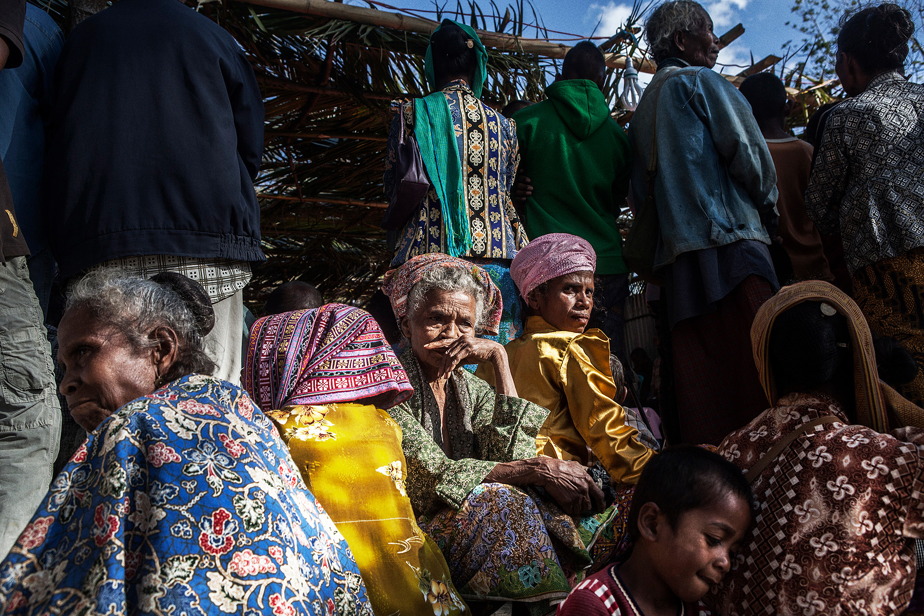 Villagers in Bobonaro wait for a meeting with East Timor's president, Taur Matan Ruak
