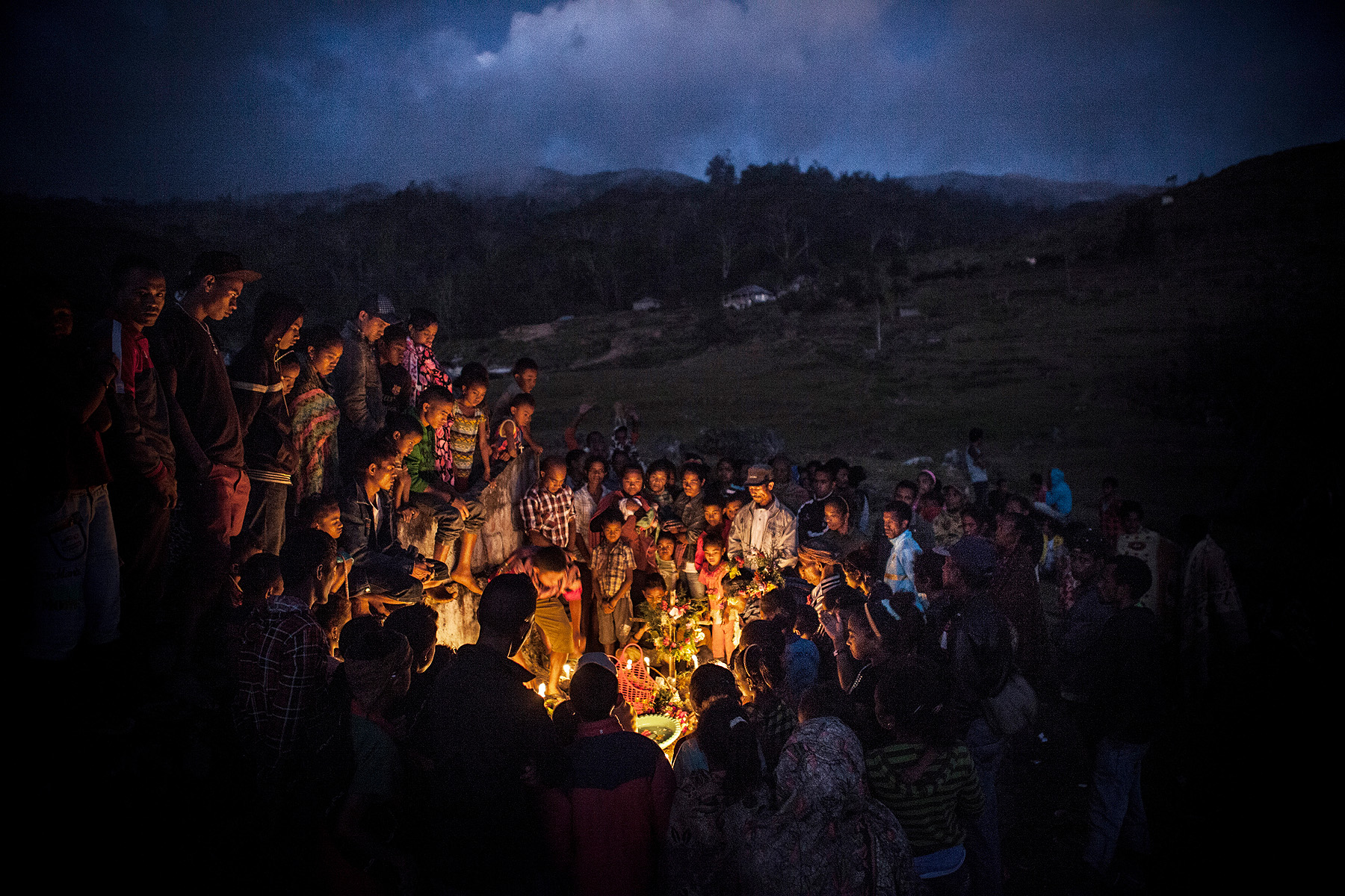 A funeral ceremony at a small village close to Atsabe