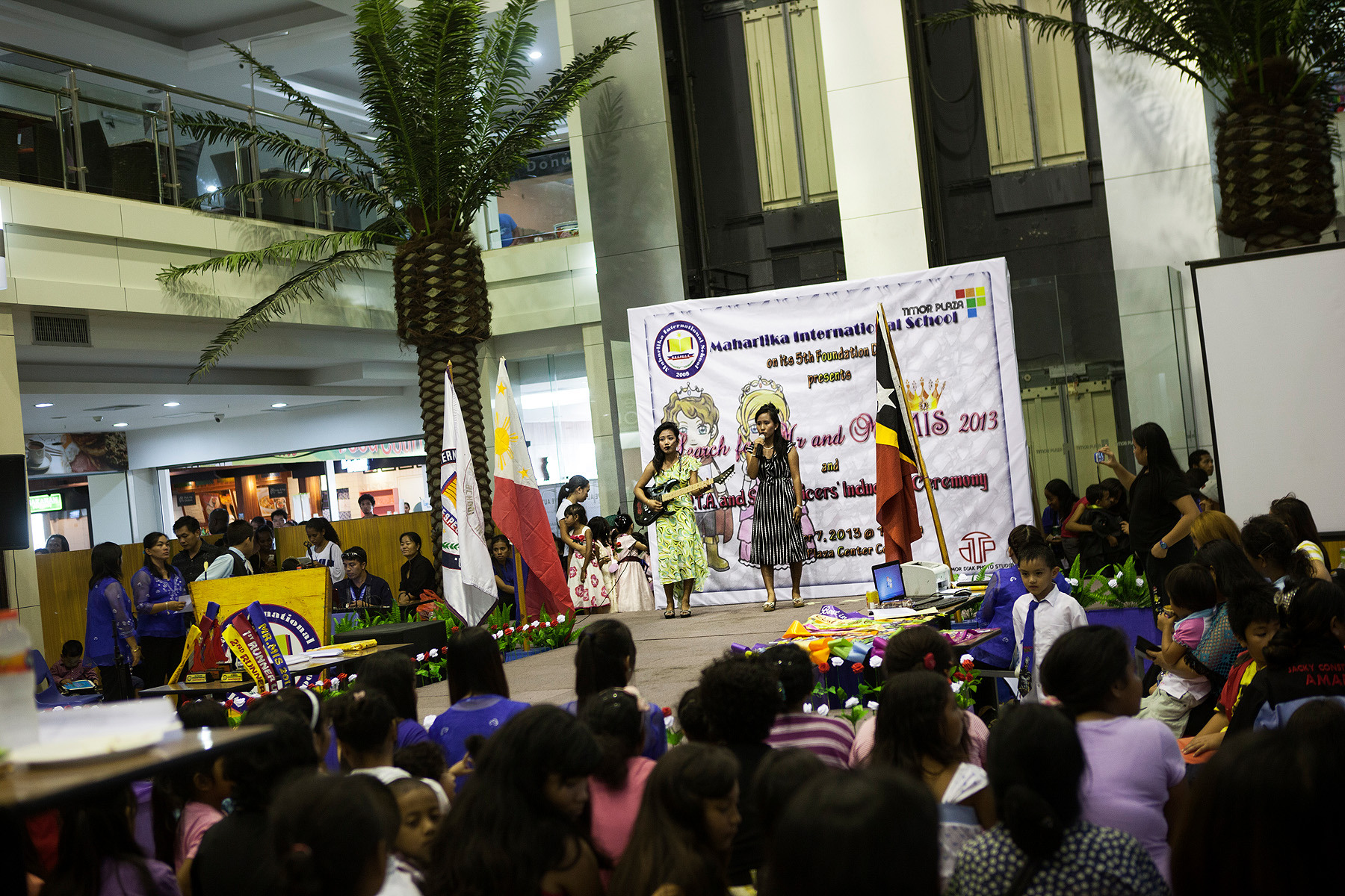 A talent competition at Timor's only modern shopping center, Timor Plaza