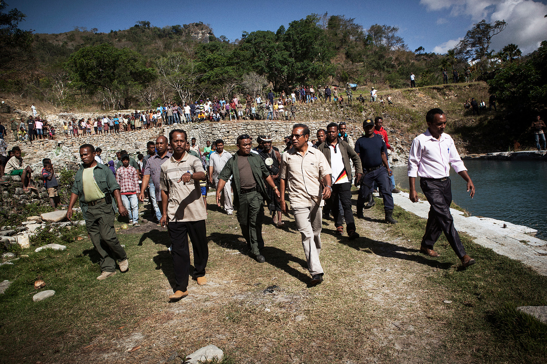 East Timor's President, Taur Matan Ruak takes regular trips to the most remote districts and walks from village to village to talk to villagers